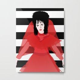 Lydia in Red Metal Print