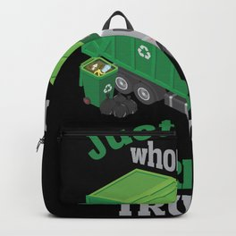 Garbage Truck loving Boy Toddler Cool Recycling  Backpack