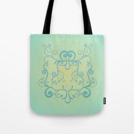 Mint tendrils emblem Tote Bag