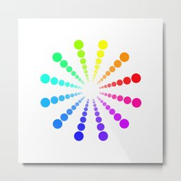 dots & circles o2 Metal Print
