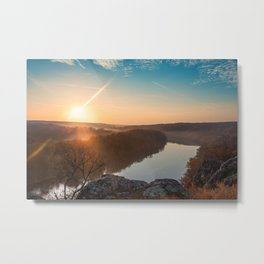 mountain autumn landscape with Southern Bug river Metal Print