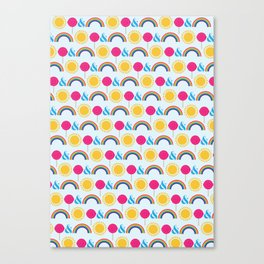 Sunshine lollipops & Rainbows Canvas Print