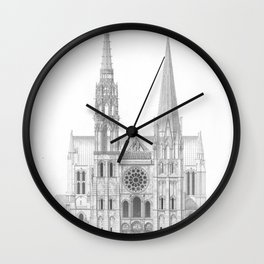 Cathedrale De Chartres Chartres Cathedral Wall Clock