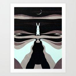 My Night Shape: The Hare Art Print