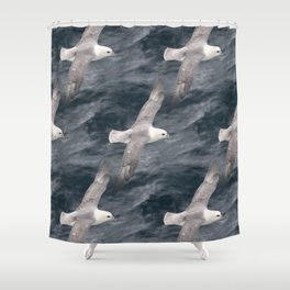 Seagull flying over Arctic Ocean Shower Curtain