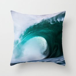 Speed, Power and Flow Throw Pillow