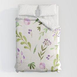Purple Flower Field Duvet Cover