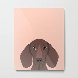 Remy - Daschund hipster dog, doxie, weiner dog, wiener dog,  Metal Print