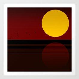 Minimal Sunset №3 Art Print