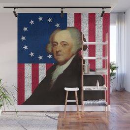 John Adams and The American Flag Wall Mural