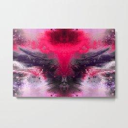 Winged Entity (magenta-rosequartz) Metal Print