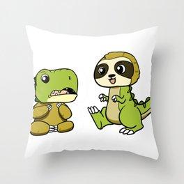 Dino-Sloth Throw Pillow