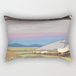 Vintage Poster - Mormon Pioneer National Historic Trail (2018) Rectangular Pillow