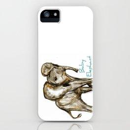 Baby Elephant Blue iPhone Case
