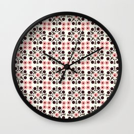 Gem Tiles Coral Wall Clock