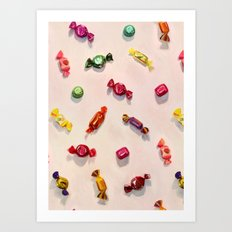 Sweet Candy Painted Pattern Art Print