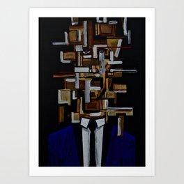 The Cubicle Man Art Print