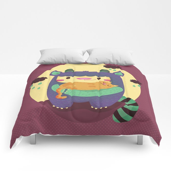 Monster and cat Comforters