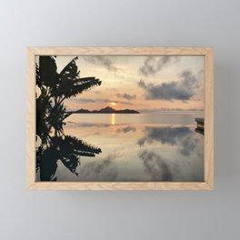 Sunset over Water Framed Mini Art Print