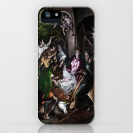 The Adoration of the Shepherds by El Greco (1610) iPhone Case