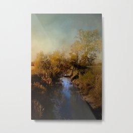 Blue Creek In Autumn Metal Print