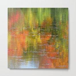 Autumn Water Colors Metal Print