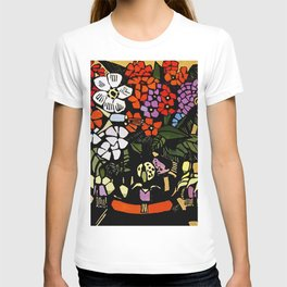 """Fuschia"" Woodblock Print by Margaret Preston T-shirt"