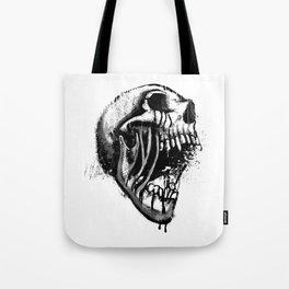 Melting Primal Scream - Skull Tote Bag