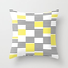 Stripes and rectangles Throw Pillow