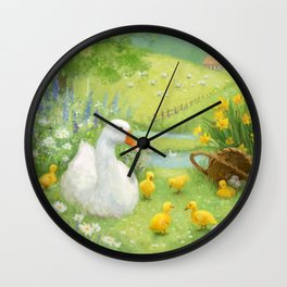 Untitled Goose painting Wall Clock