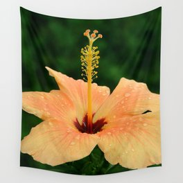 Peach Hibiscus Wall Tapestry