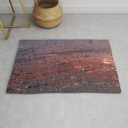 Surface of Mars Low Poly Geometric Triangles Rug