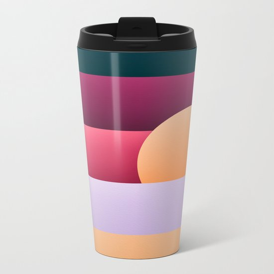 Sunset at beach Metal Travel Mug