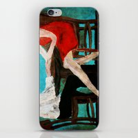 dress iPhone & iPod Skins featuring Red Dress by James Peart