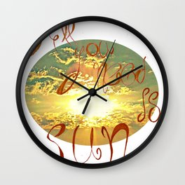All you need is love/ sky Wall Clock