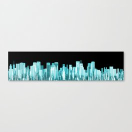 Hologram city panorama Canvas Print