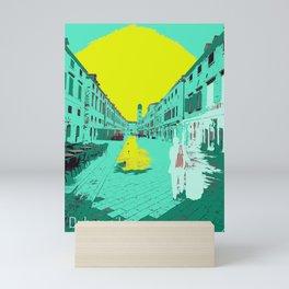 Dubrovnik Old Town at Sunrise Photo Painted Pop Art Mini Art Print