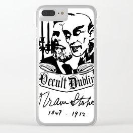 OCCULT DUBLIN series: Bram Stoker Clear iPhone Case
