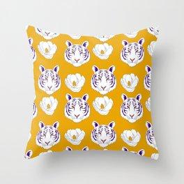 LSU yellow Throw Pillow