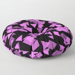 Pink Confetti Pops on Black Floor Pillow
