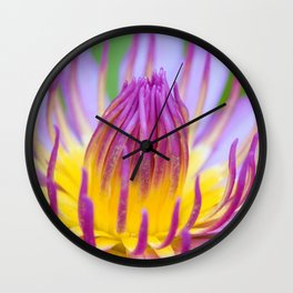 Floral Greeting Wall Clock