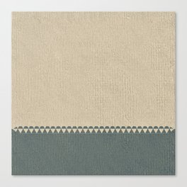 Texture Taupe and Grey Green Pattern Canvas Print