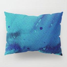 Watercolor Splash Blue Pillow Sham