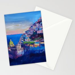 Amazing Amalfi Coast at Sunset in Italy Stationery Cards