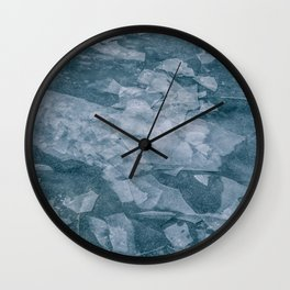 Sharp Blue Terrain Wall Clock