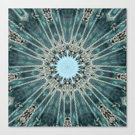 Ocean Seawave Glass Mandala Canvas Print