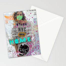 S T A Y   H O M E  Stationery Cards