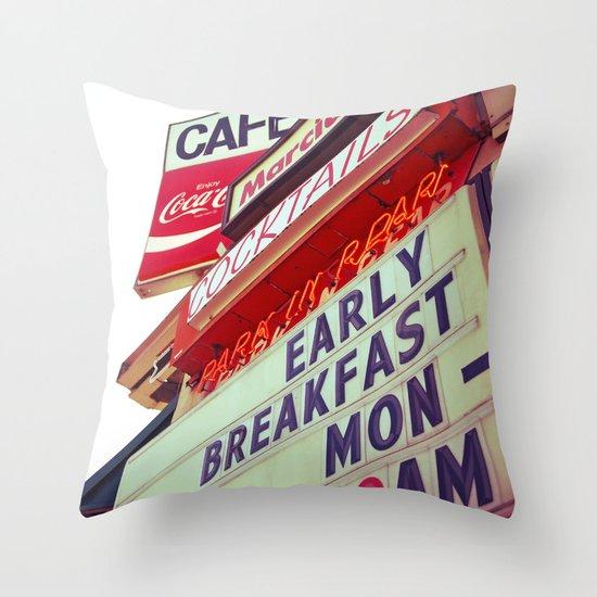 Diner angle Throw Pillow