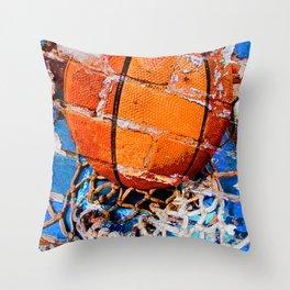 Basketball game vs 2 Throw Pillow