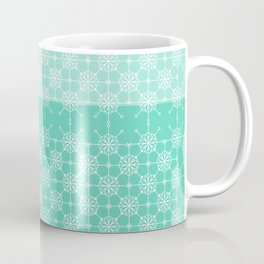 Portuguese Tiles of Lisboa in Green with Glitch Coffee Mug